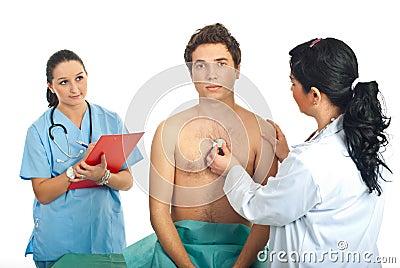 Doctor woman examine patient