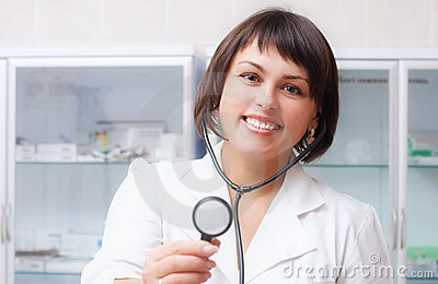 Doctor woman in the office