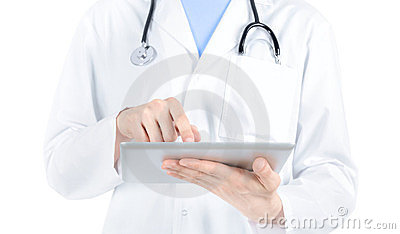Doctor Working With Digital Tablet PC