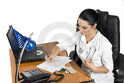 Doctor write a medical prescription