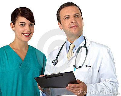 Doctor with young practitioner