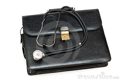 Doctors  case with stethoscope