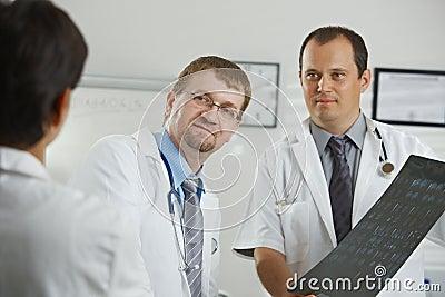 Doctors consluting diagnosis