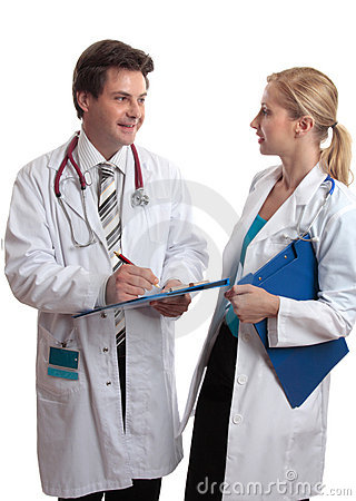 Doctors in discussion