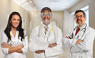 Doctors in Hospital Building