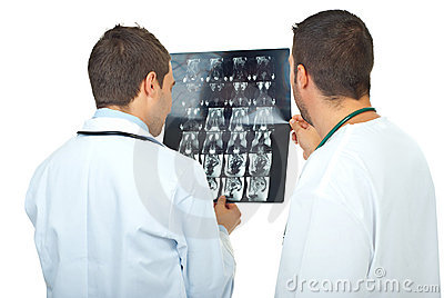 Doctors men review magnetic resonance