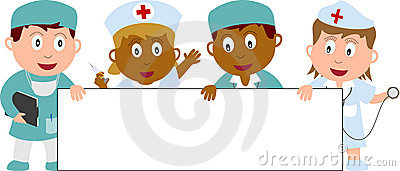 Doctors, Nurses and Banner Editorial Photography