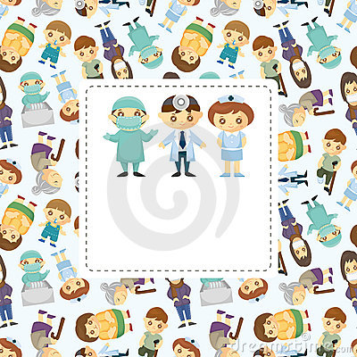 Doctors and Patient people card