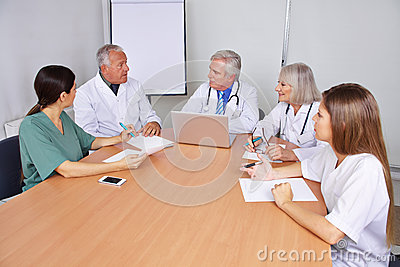Doctors in a training seminar
