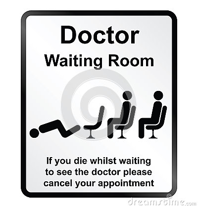 Doctors waiting room Information Sign