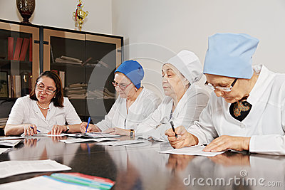 Doctors working with papers
