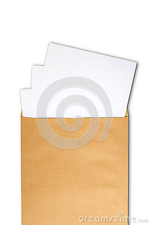 Document in brown develop