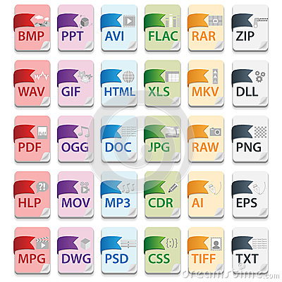 Free Document File Extensions Royalty Free Stock Image - 27410336