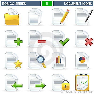 Free Document Icons - Robico Series Stock Images - 13612164
