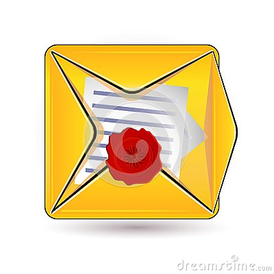 Document and wax icon