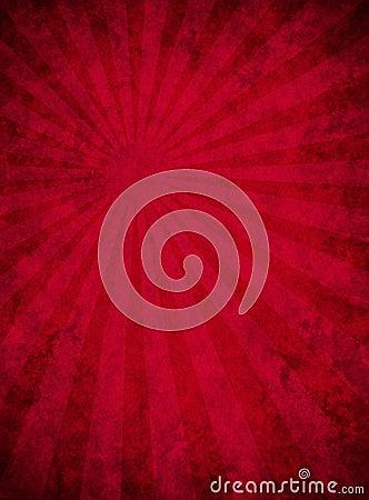 Documento rosso Grungy con il reticolo del raggio luminoso