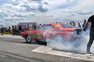 Dodge burn out Editorial Stock Image