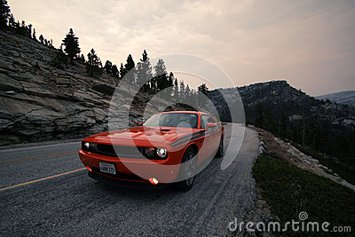 Dodge challenger Yosemite National Park Editorial Photography