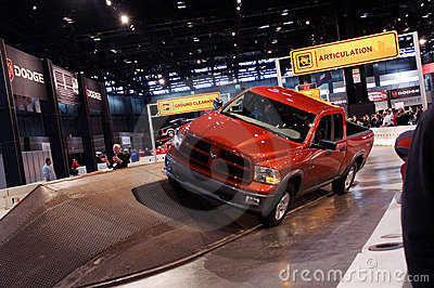 Dodge Ram ramp demo Editorial Photography