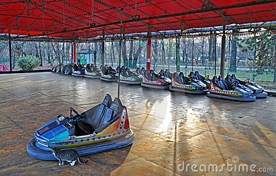 Dodgem entertainment cars