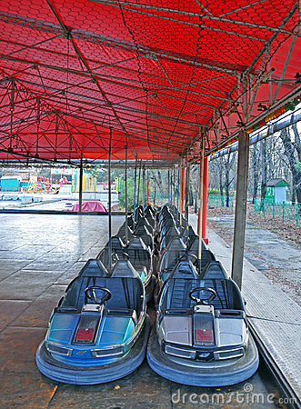 Dodgem entertainment cars in park