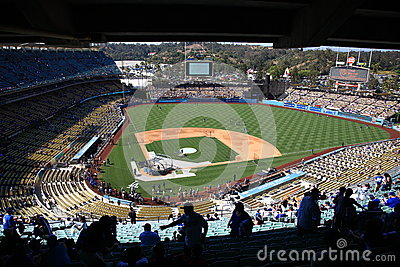 Dodger Stadium - Los Angeles Dodgers Editorial Stock Image