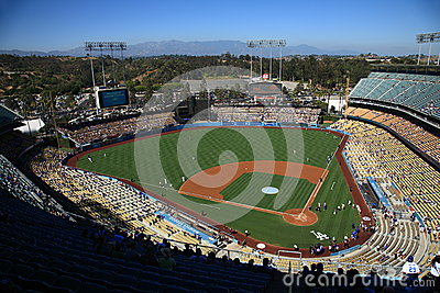 Dodger Stadium - Los Angeles Dodgers Editorial Image