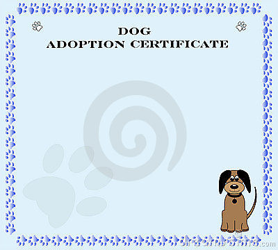 Adopt Puppies on Dog Adoption Certificate Roughcolli Dreamstime Com Id 12967301 Level 2