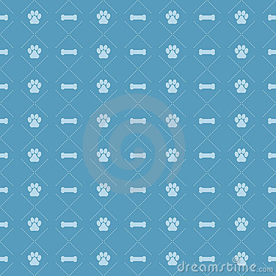 Free Dog And Bone Pattern EPS Royalty Free Stock Photography - 15573137