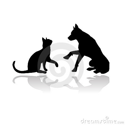 Free Dog And Cat Playing Together Stock Photography - 9428882