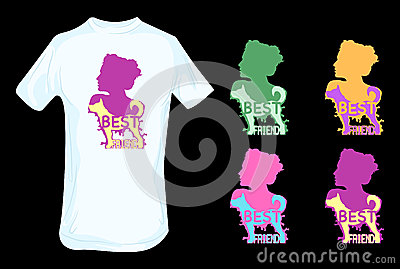 Dog as human best friend t shirt design