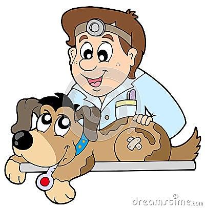Free Dog At Veterinarian Stock Photo - 12186310
