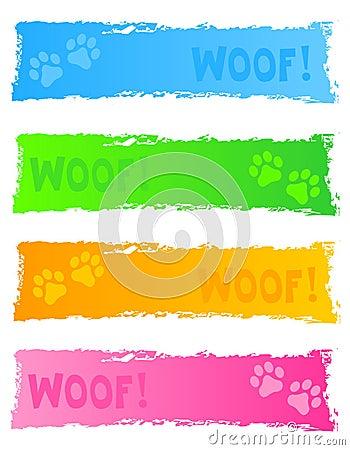 Dog banner / header
