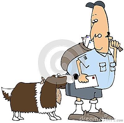 Dog Biting A Mail Man