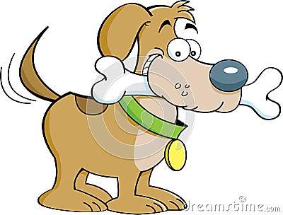 Dog and a bone