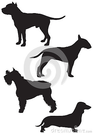 Dog breed vector Silhouettes