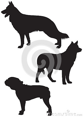 Dog breeds vector Silhouettes 2