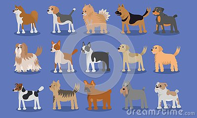 Dog Cartoon Cute Vector Design Vector Illustration