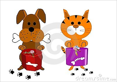 Dog and cat cartoon characters