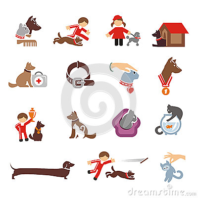 Free Dog & Cat Icons Set Royalty Free Stock Image - 32744596