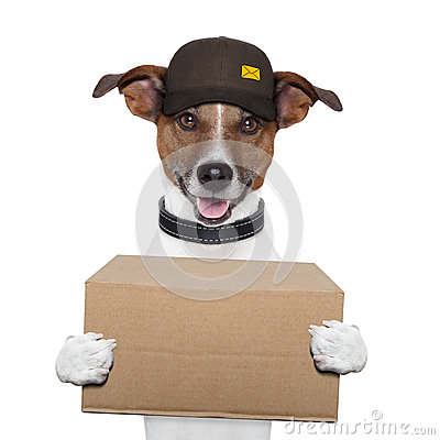 Free Dog Delivery Post Royalty Free Stock Image - 26658416