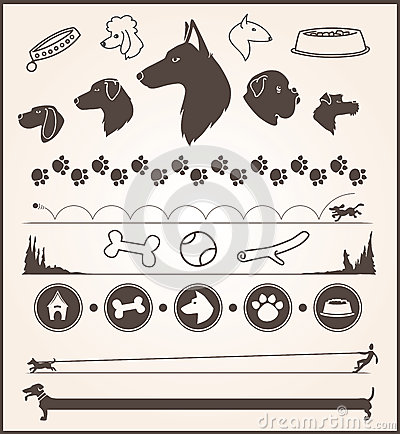 Dog Design Elements