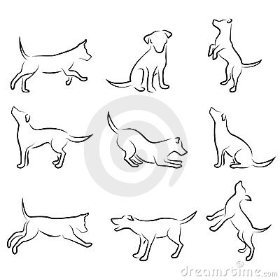 Dog drawing set