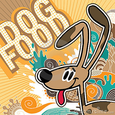 Dog food background