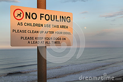 Dog fouling sign.