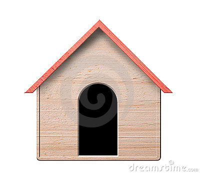 Dog house, isolated.