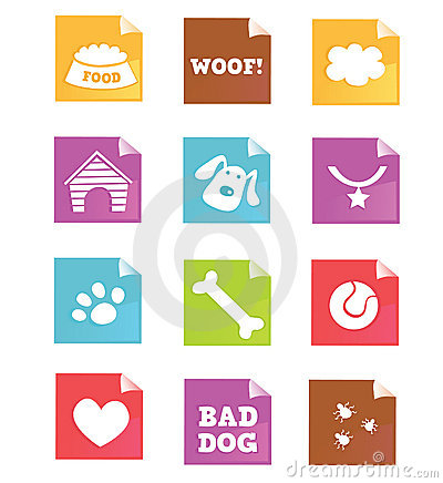 Free Dog Icons – VECTOR Royalty Free Stock Photography - 10041777