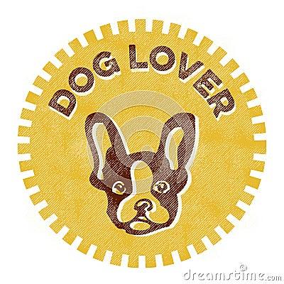 Dog Lover badge Vector Illustration