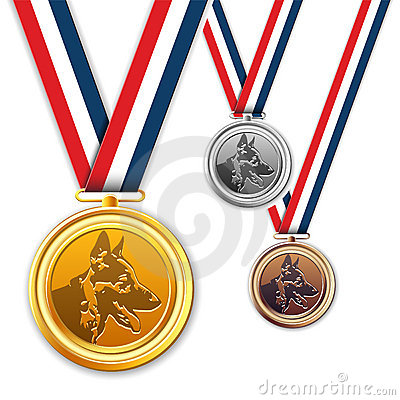 Dog medals, award, medallion.
