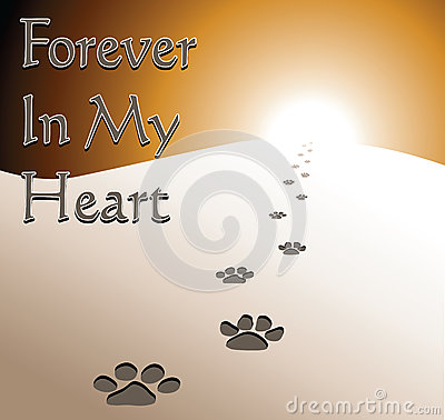 Free Dog Memorial - Forever In My Heart Stock Image - 83049871